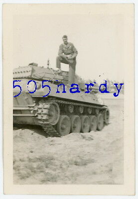 WWII US GI Photo - ID'd 7th Army GI Standing On M18 Hellcat Tank Destroyer -TOP!