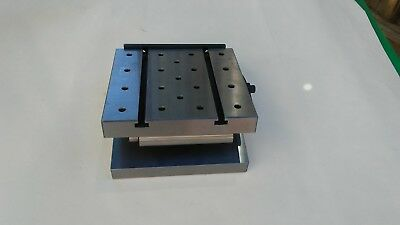 "6"" x 6"" x 2"" Precision sine plate with 1/4""-20 tapped holes"