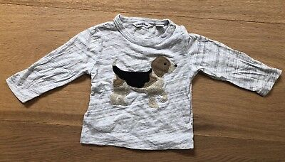 Country Road Baby Boy Dog Long Sleeve T-shirt Size 3-6 Months