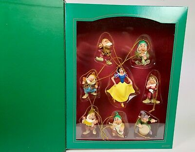 Disney Storybook Christmas Ornament Collection ~ 8 Pc Snow White & the 7 Dwarfs