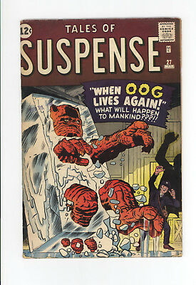 Tales Of Suspense #27 - Scarce Early Silver Age Pre-Hero! 1962 - Ogg Lives! Nice