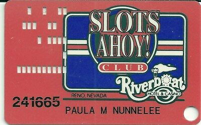 VintageRiverboat CasinoSlot Card #7 Rated Very Scarce Reno, Nv. Closed 1998