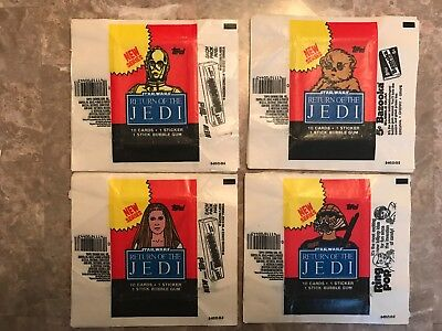 STAR WARS RETURN OF THE JEDI Topps Wax Wrappers 1983 Series 2 ( 50 count )