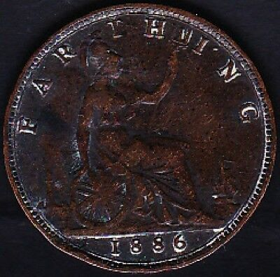 1886 Great Britain Farthing Vf