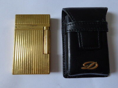 S.T. Dupont - Ligne 2 Yellow Gold Montparnasse Vertical Lines with Case