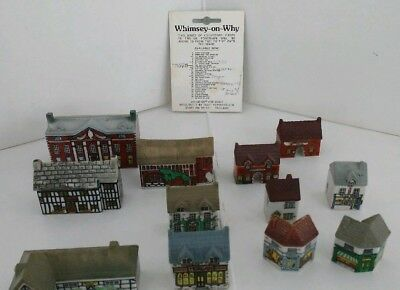 Wade Whimsey on Why LOT of 12 Houses/Shops/Village Porcelain miniatures England