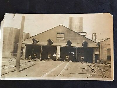 Vintage 1915 Kettle River Creosote Plant Rail Lines Photo - Madison Illinois