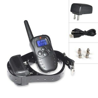 Anti No Bark Petrainer Waterproof Electric Dog Training Shock Collar LCD Remote