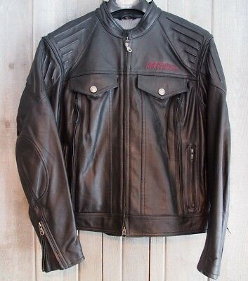 Harley Davidson Riding Jacket Leather REVOLUTION with Pads Vents Womens L Unisex