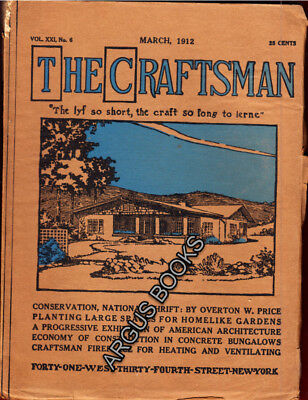 1912 MARCH Gustav Stickley CRAFTSMAN MAGAZINE Arts and Crafts Movement MISSION