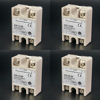 SSR Single-phase Solid State Relay 10-60A DC-DC Input 3-32VDC Load 5-200VDC