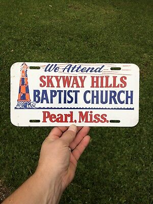 Rare Pearl Mississippi Booster Auto License Plate Tag Sign Topper