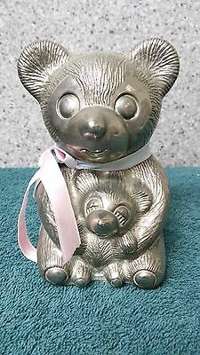 Silver bear bank for baby/child's room by Godinger Silver Art made in China
