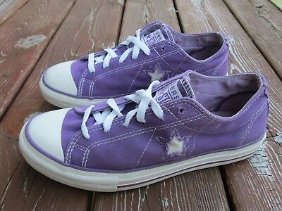 CONVERSE ONE STAR women's athletic sneakers purple canvas SIZE 8.5