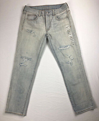 American Eagle Outfitters Aeo Jeans 2 Crop Light Wash Distressed - Free Gift