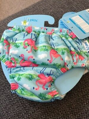I Play - baby girl - Reusable Absorbent Swimsuit Nappy-( Size 6 Months) BNWT