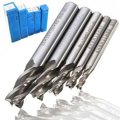 HSS Straight Shank 4 Flute End Mill Cutter Drill Tool set for Carved Machine.