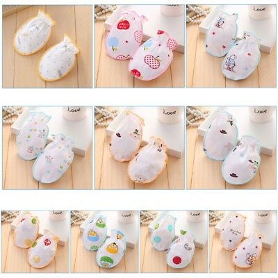 Baby Gloves Anti Scratch Face Hand Guards Cartoon Protection Newborn Soft Mitten
