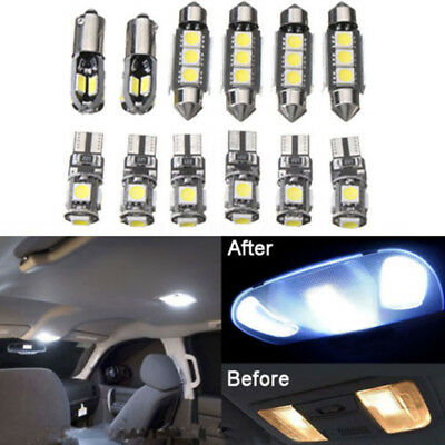 12x Car Interior LED Lights Kit for BMW E36 3 Series Convertible 1992-1998