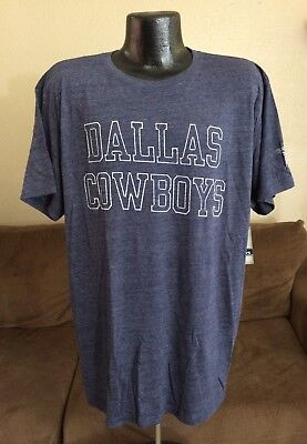 NFL DALLAS COWBOYS Coaches Fader Tee SHIRT HEATHER BLUE SIZE 2XL   XXL MEN  - NEW 2313b1860