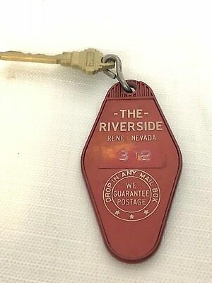 Vintage Hotel Room Key The Riverside Reno Nevada Key And Fob Room 312
