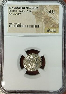Philip III - Kindgom of Macedon Drachm - 323-317 BC - NGC-AU