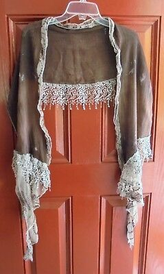 mixed lot 3 Fall Scarves Lace, Tassels, Boho, Gypsy, Leganlook