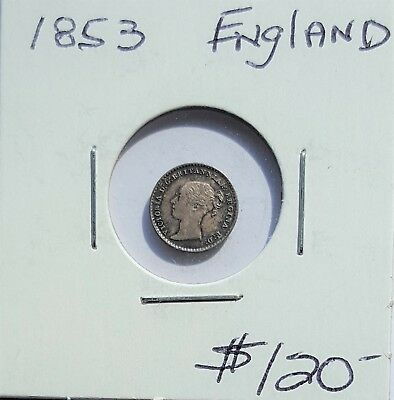 Great Britain 1853 One Penny? Silver Coin