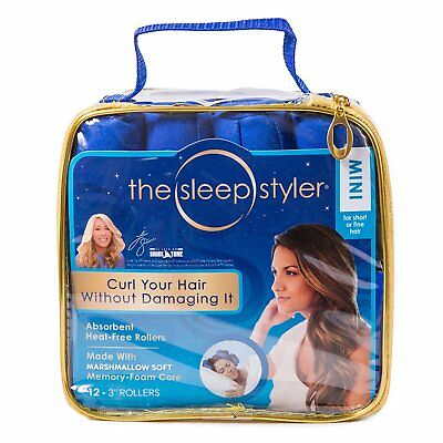 """The Sleep Styler heat free Nighttime Hair Curlers for Short 12-3"""" Rollers - Mini"""