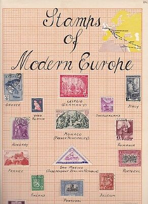 ROW29) Stamps of Modern Europe