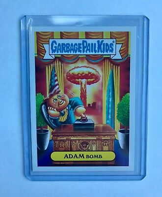 Rare Garbage Pail Kids Collectable Trading Card: Adam Bomb
