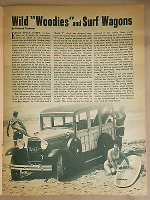 Wild Woodies & Surf Wagons 7 Pg. Vintage Article - Car Craft Magazine July 1963