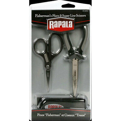 "Rapala 6.5"" Fisherman's Pliers and Super Line Scissors Combo BRAND NEW @ Ottos T"