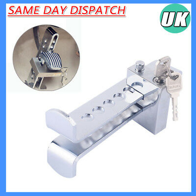 8 Holes Car Brake Pedal Stainless Clutch Steering Wheel Lock Anti-theft Security
