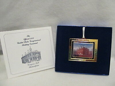 Official 1999 United States Congressional Christmas Ornament Congress Hall PA
