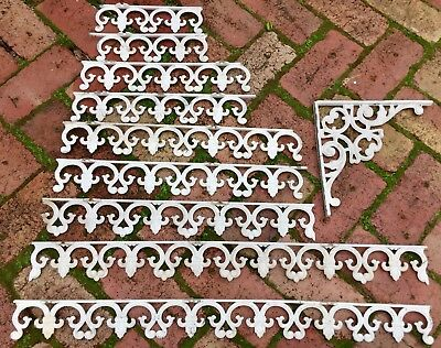 # 10 pieces cast ALUMINIUM FRIEZE Victorian LACE work white Pick-up