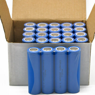 24xICR18650 2600mah Rechargeable Li-ion Battery Flat top 3.7V At least 500cycles