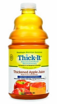 Thick It AquaCare H2O Thickened Apple Juice Beverage, 0.5 Gallon -- 4 per case.
