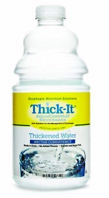 Thick It AquaCare H2O Nectar Thickened Water Beverage, 0.5 Gallon -- 4/CS.