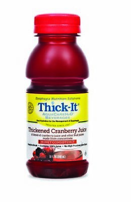 Thick-It Aquacare H2O Honey Consistency Pre-thickened Cranberry Juice, 8oz (24)