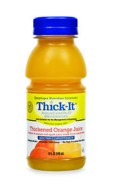 Thick-It AquaCare H2O: Pre-Thickened Orange Juice, Nectar-thick liquid, (CS)