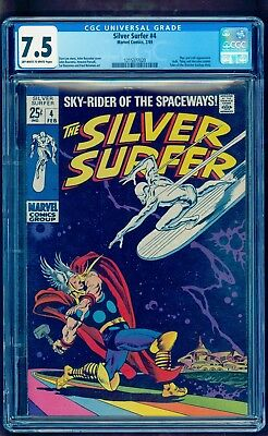 Silver Surfer 4 Cgc 7.5 ** Bright Colors ** Lowest Price On Ebay