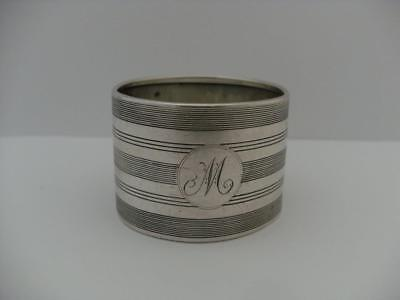 LOVELY SOLID SILVER NAPKIN RING Birmingham 1928