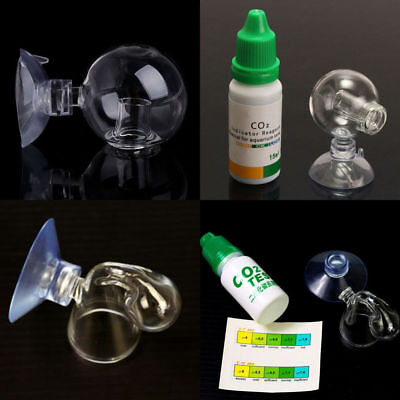 Aquarium Carbon Dioxide CO2 Monitor Glass Drop Ball Checker Tester PH Indicator