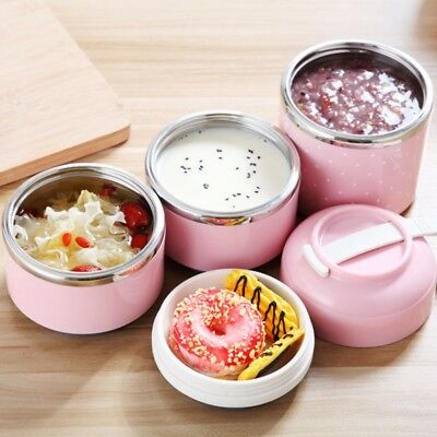 AU Portable Stainless Lunch Box Steel Thermal Insulated Bento Food Container Box