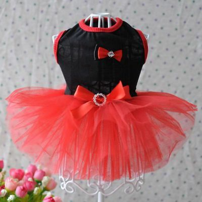 Small Pet Dog Lace Tutu Dress Puppy Princess Skirt Clothes Apparel Costume Cute