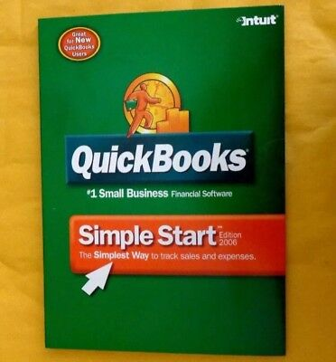 Quickbooks Simple Start Edition 2006 For Windows (New! Sealed)