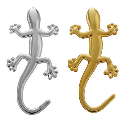 2 pieces 3D Gecko Forme Chrome insigne Embleme Decalque voiture Autocollant V2K5