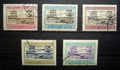 Liberia - 1923 100th Anniversary, Landing First Settlers, Cape Mesurado, CTO Set
