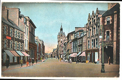 Old Postcard High Street, Hawick. Reliable Series, Posted 1906, Horse And Cart